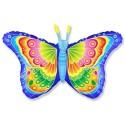 Шар синий Бабочка кокетка 81см