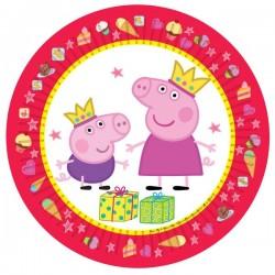"""Набор бумажных тарелок """"Пеппа-принцесса"""" 23 см, (набор6 шт.) 28555 1298790"""