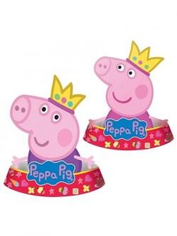 """Набор бумажных колпаков """"Пеппа-принцесса"""" (набор 6 шт., 2 дизайна) 1298777"""