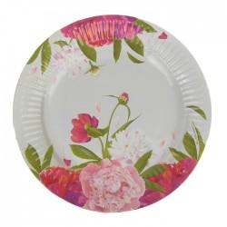 Набор тарелок Цветы 18см 6шт