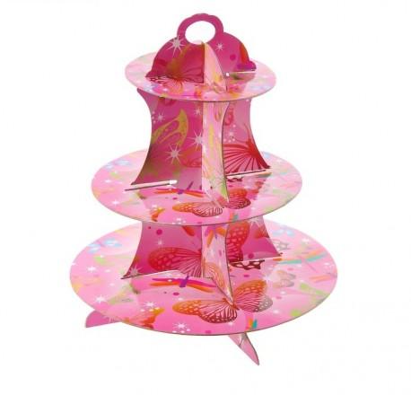 """Подставка для пирожных трехъярусная """"Бабочки"""" 1057068"""
