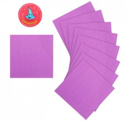 Салфетки бумажные (набор 20 шт) 25*25 см Однотонные, фиолетовый 173476
