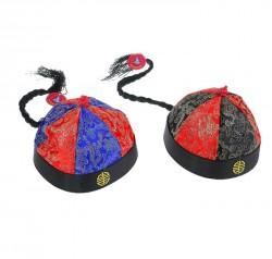 Шапка китайская с косой цветная, размер 8, цвета МИКС 1019025