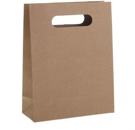 Пакет крафт с вырубной ручкой 19 х 23 х 8 см 1255165