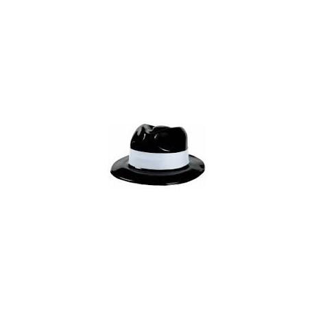Шляпа пласт Гангстер с белой полосой/А (048419684626)