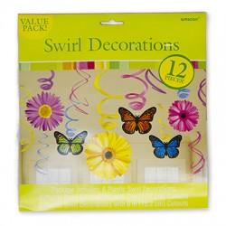 Спираль Бабочки Цветы 46-60см 12шт/A (013051405014)