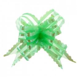 Бант-бабочка №5 органза резной, зеленый 817266