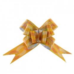 Бант-бабочка №3 голография с рисунком кофейные зёрна, золото 1020383