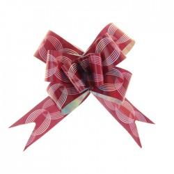 Бант-бабочка №3 голография с рисунком кофейные зёрна, бордовый 1020384