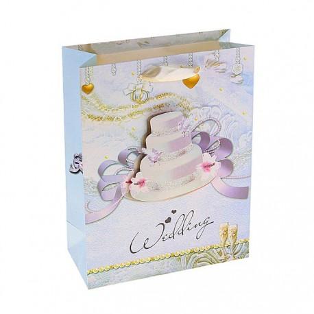 пакет бумажный MS (18*24*8) Свадебный торт 764270