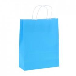 Пакет крафт Радуга голубой 25х32см