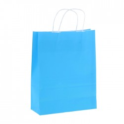 "Пакет крафт ""Радуга"" голубой, 25 х 32 х 11 см"