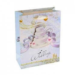 пакет бумажный ML (26*32*10) Свадебный торт 764291