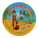 Набор тарелок Пират С днем рождения 18см 10шт