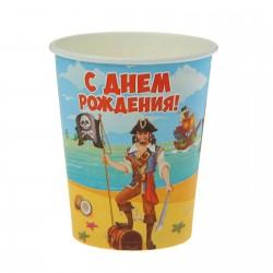 Набор стаканов С днем рождения Веселый пират 10шт