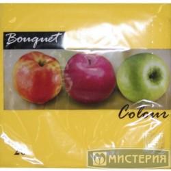Салфетки желтые Bouquet Colour 33см 20шт
