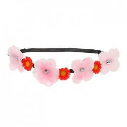 Повязка на голову цветы с васильками, цвета МИКС