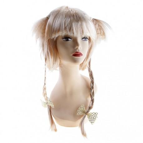 парик 2 хвостика и косы 308790