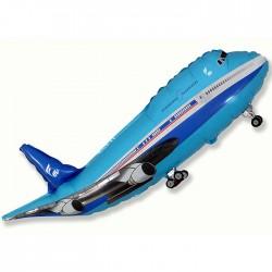 Самолет пассажирский синий 35см