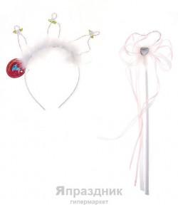 Карнавал набор 2 в1 (ободок+волшебная палочка) корона 3 угла