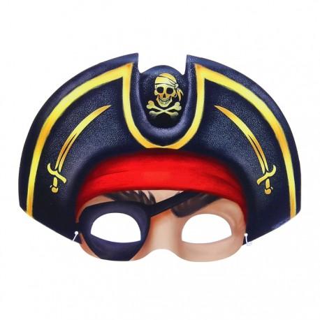 """Маска карнавальная """"Пират в шляпе с повязкой"""", 24,7х18,4 см 1023122"""