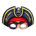 Маска карнавальная Пират в шляпе с повязкой 25х18см