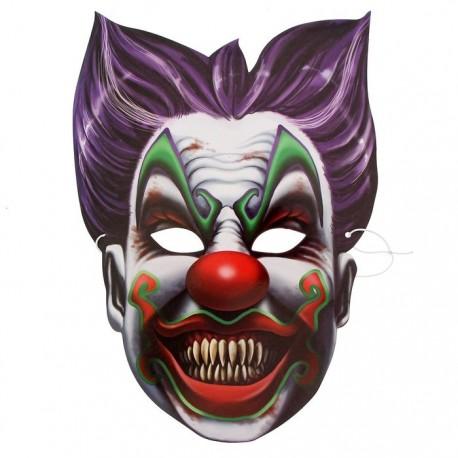 "Маска карнавальная ""Клоун"", 21,7 х 30,8 см 1353913"
