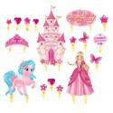 """Набор для украшения торта """"С днем рождения""""принцесса 1116133"""