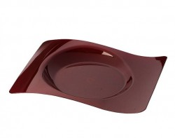 Набор тарелок Buffett бордовые прямоугольные 18х22см