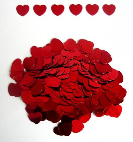"Конфетти ""Сердца Красные"" 12 мм /14 гр./ (Китай)"
