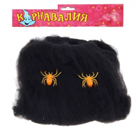 прикол черная паутина 2 оранжевых паука 16*20 327756