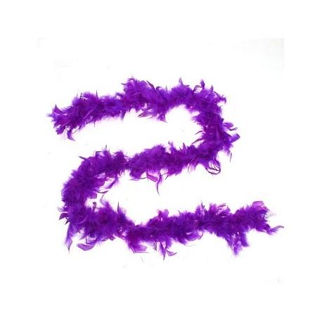 Карнавальный шарф перо 1,8 метра 30 грамм, цвет фиолетовый 1216256