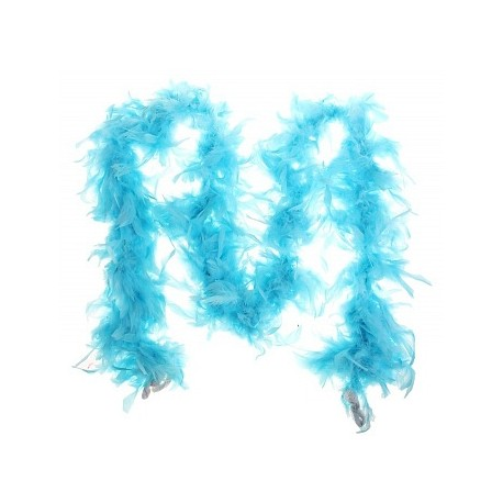 Карнавальный шарф перо 1,8 метра 30 грамм, цвет голубой 1216251
