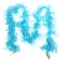 Карнавальный шарф перо 1,8 метра 30 грамм, цвет голубой