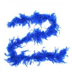 Карнавальный шарф перо 1,8 метра 30 грамм, цвет синий