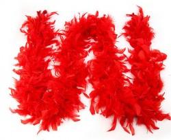 Карнавальный шарф перо 1,8 метра 30 грамм, цвет красный 1216255