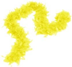 Карнавальный шарф перо 1,8 метра 30 грамм, цвет желтый