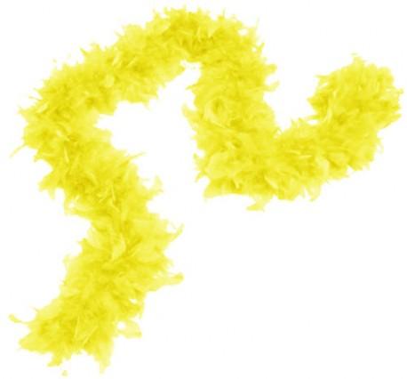 Карнавальный шарф перо 1,8 метра 30 грамм, цвет желтый 1216259