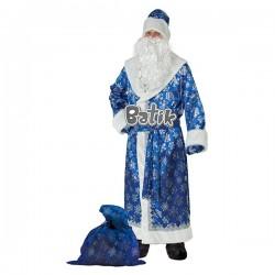 Карн. кост Дед Мороз сатин синийй взр. р.54-56 р.