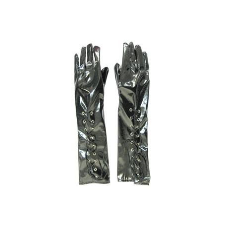 WB Перчатки длинные черные латекс