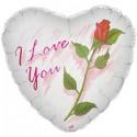 Шар белый Я люблю тебя Сердце 46см