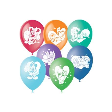"""M 12""""/30см Пастель+Декоратор (шелк) 2 ст. рис Дисней Любовь 50шт шар латекс"""