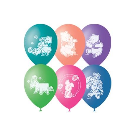 """M 12""""/30см Пастель+Декоратор (шелк) 2 ст. рис Дисней Винни Пух 50шт шар латекс"""