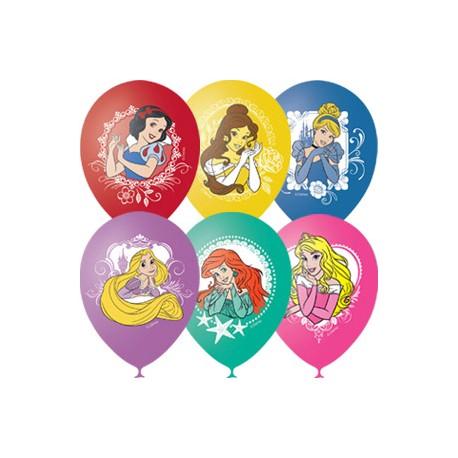 """M 12""""/30см Пастель+Декоратор (шелк) 1 ст. 4 цв. рис Дисней цветной Принцессы 25шт шар латекс"""