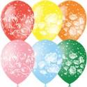 """M 12""""/30см Пастель+Декоратор (растр) 5 ст. рис Фантазия 25шт шар латекс"""