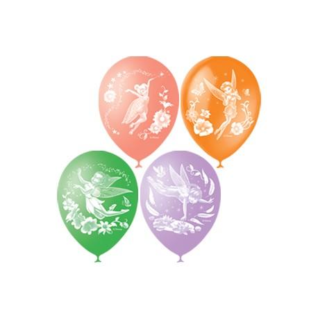 """M 12""""/30см Пастель+Декоратор (растр) 2 ст. рис Дисней Феи 50шт шар латекс"""