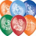 """M 12""""/30см Пастель+Декоратор (растр) 2 ст. рис Дисней Принцессы 50шт шар латекс"""