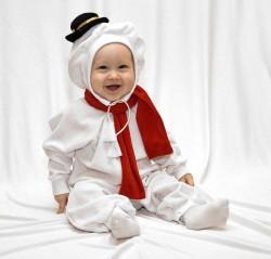 """Маскарадный комбинезон для самых маленьких """" Снеговик"""" с игрушкой"""" рост 68-92, 1-2 года 1235231"""