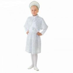 "Костюм ""Снежинка""кокошник, пелерина, юбка, размер 56 рост 104 1704642"