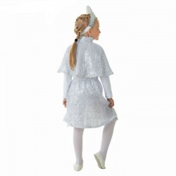 "Костюм ""Снежинка"", кокошник, пелерина, юбка, размер 64 рост 128 1704644"
